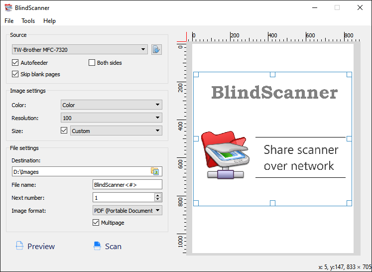 Click to view BlindScanner screenshots